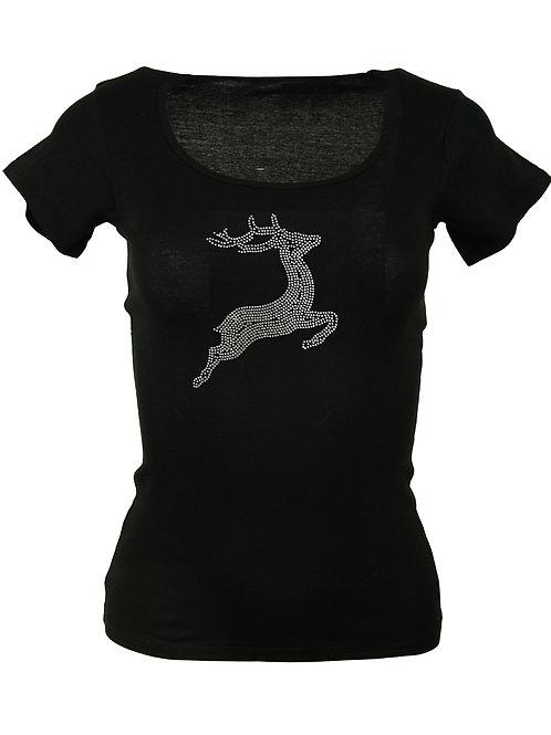 SPRINGENDER HIRSCH Trachtenshirt Fun Shirt