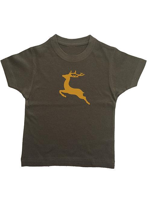 """Kinder Trachtenshirt """"SPRINGENDER HIRSCH"""" in 7 Shirtf."""