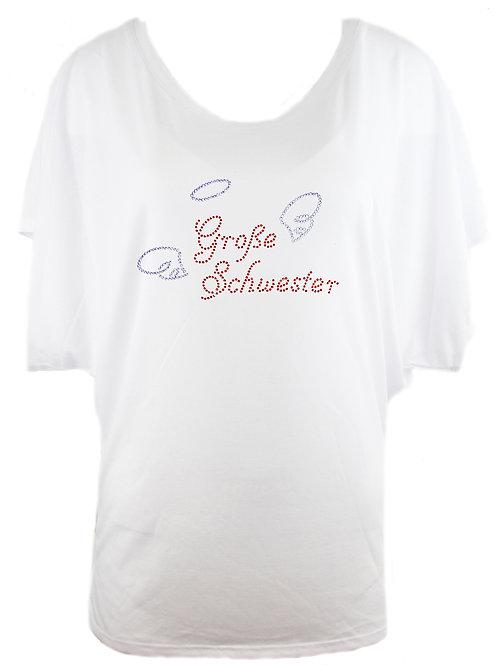 "Strassshirt ""GROSSE SCHWESTER"" in 2 Shirtf."