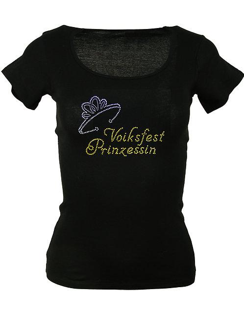 VOIKSFEST PRINZESSINMIT KRONE Trachtenshirt Fun Shirt
