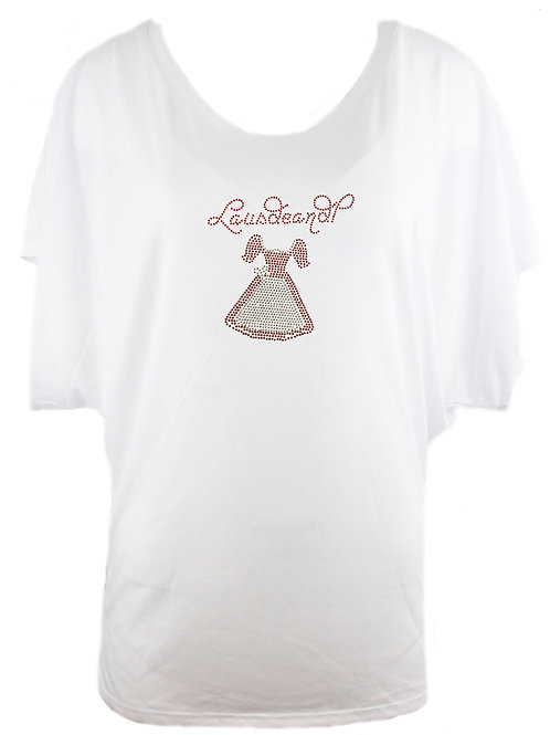 LAUSDEANDL MIT DIRDNL Trachtenshirt Fun Shirt