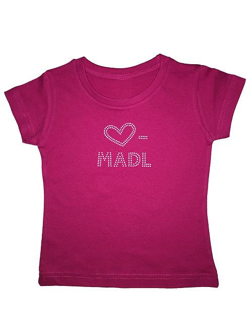"""Kinder Trachtenshirt """"HERZ MADL"""" in 3 Shirtfarben"""