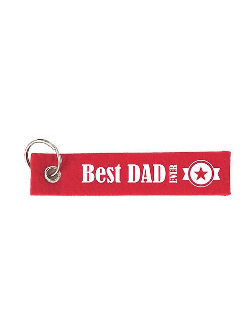BEST DAD EVER mit Stern Filz Schlüsselanhänger