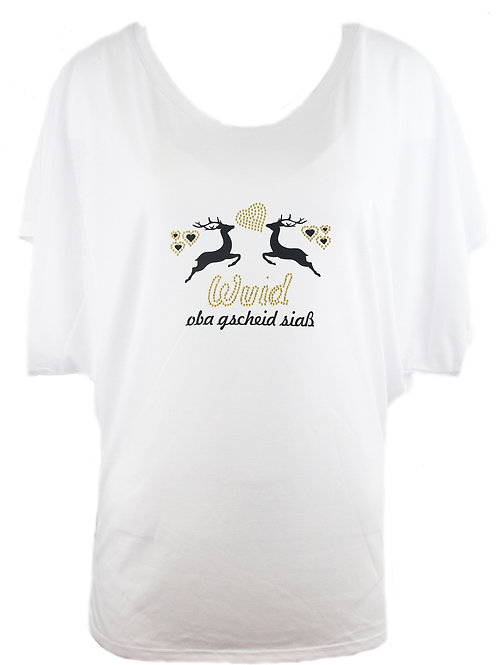 WUID OBA GSCHEID SIASS Trachtenshirt Fun Shirt