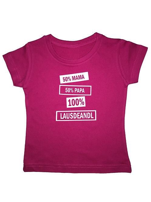 """Kinder Trachtenshirt """"LAUSDEANDL"""" in 3 Shirtfarben"""