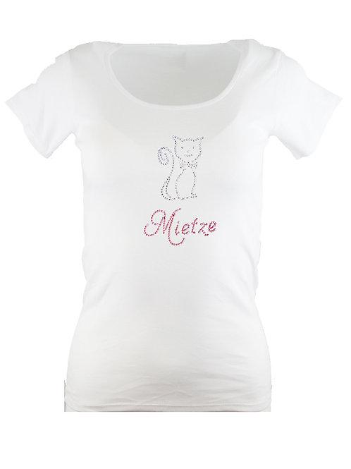 "Strass T-Shirt ""MIETZE"" in 4 Shirtfarben"