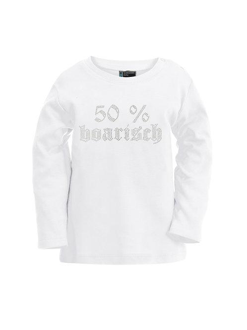 """Langarmshirt """"50% BOARISCH"""" in 4 Farben"""