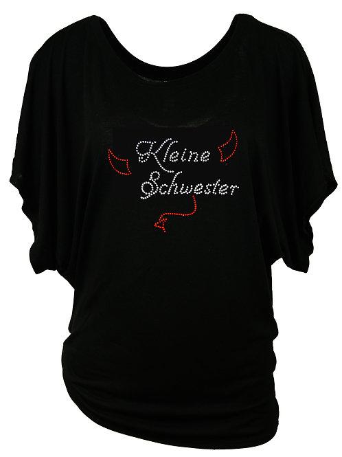 """Strassshirt """"KLEINE SCHWESTER"""" in 2 Shirtfarben"""