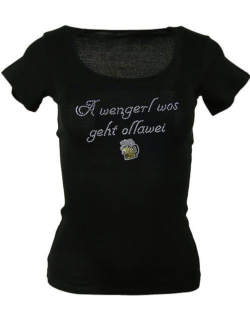 A WENGERL WOS GEHT OLLAWEI Trachtenshirt Fun Shirt