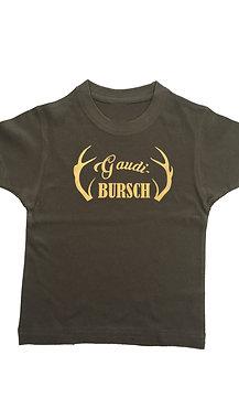 "Kinder Trachtenshirt ""GAUDI BURSCH"" in 5 Shirtfarben"