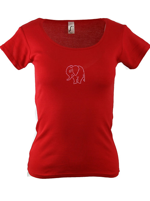 "Strass T-Shirt ""ELEFANT"" in 4 Shirtfarben"