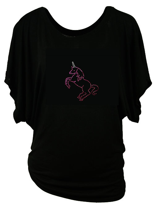 """Strasstshirt """"EINHORN"""" in 2 Shirtfarben"""