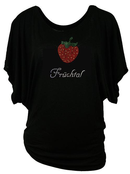 FRÜCHTAL MIT ERDBEERE Trachtenshirt Fun Shirt