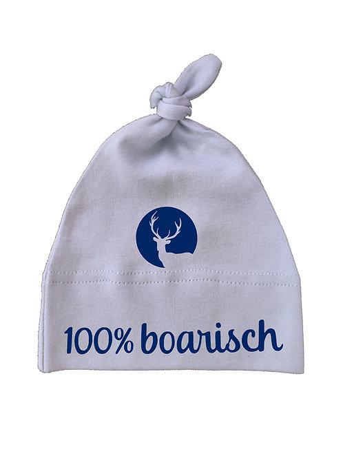 """Babymütze """"100% BOARISCH MIT HIRSCH"""" in 3 Mützenfarben"""