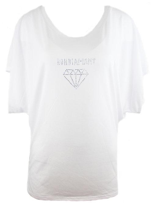 """Strasstshirt """"ROHDIAMANT"""" in 2 Shirtfarben"""