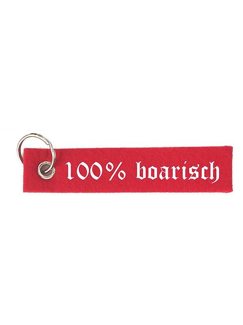 100% BOARISCH Schlüsselanhänger - Filz Schlüsselbänder