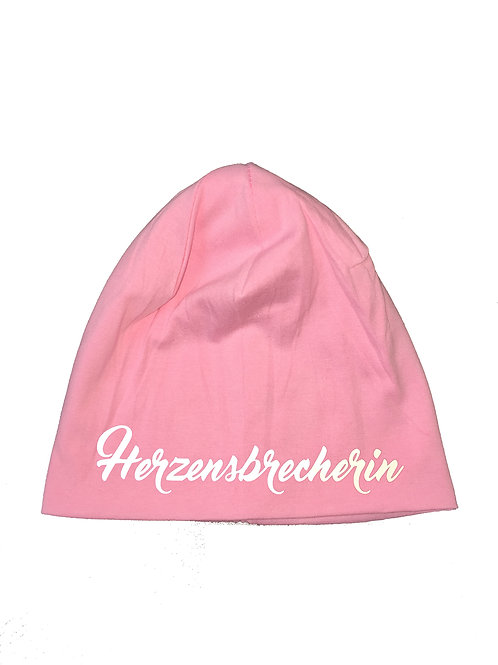 "Kindermütze ""HERZENSBRECHERIN"" in 3 Farben"
