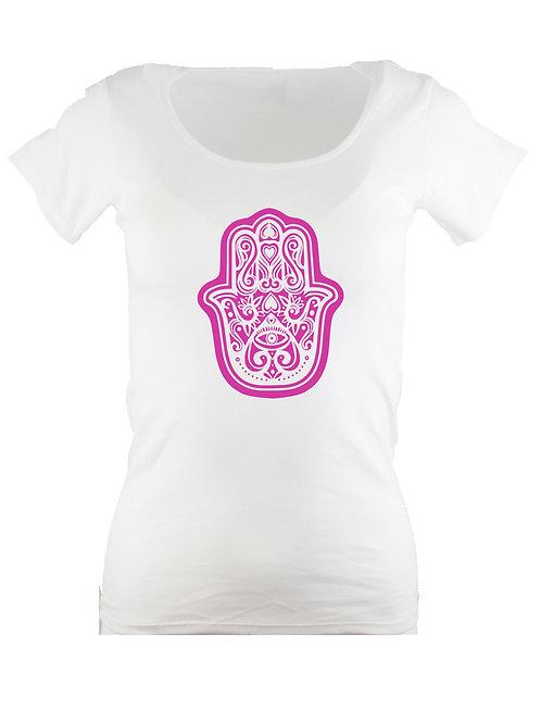 Hamsa Fatima Hand Damen Yoga Shirt  in deiner WUNSCHFARBE