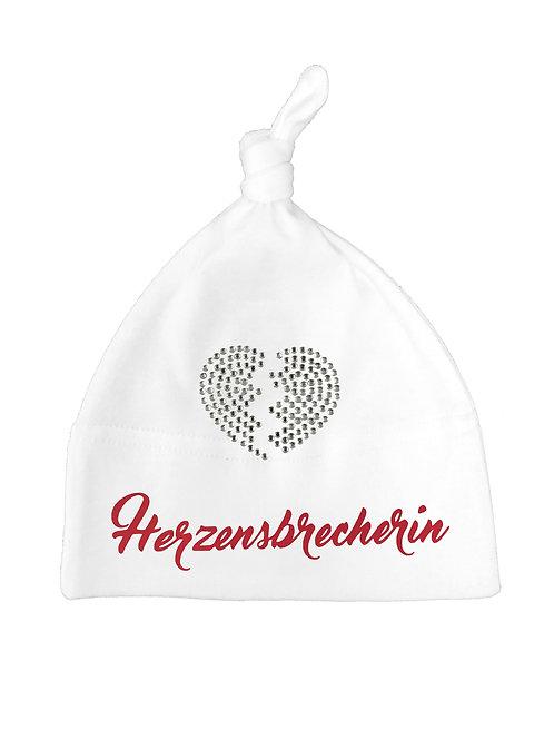 "Babymütze ""HERZENSBRECHERIN"" in 2 Mützenfarben"