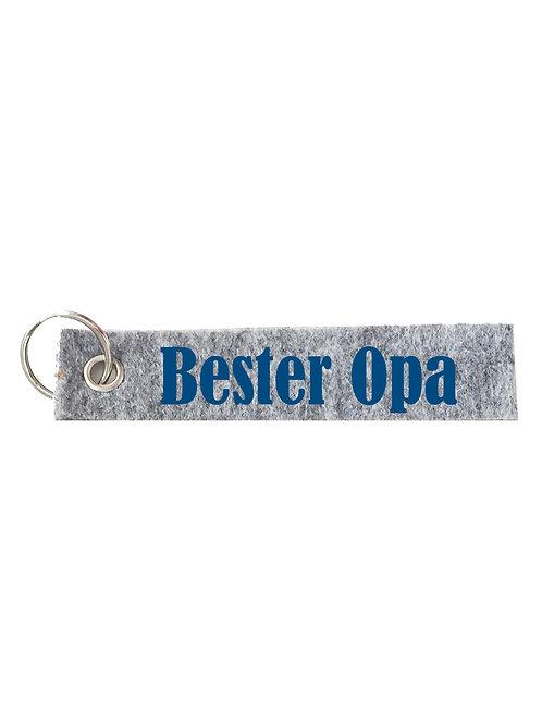 BESTER OPA Schlüsselanhänger - Filz Schlüsselbänder