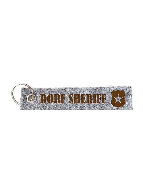 DORF SCHERIFF Schlüsselanhänger - Filz Schlüsselbänder