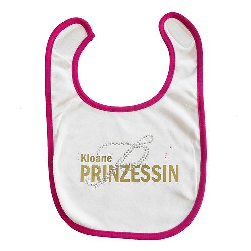 """Baby Lätzchen """"Kloane Prinzessin - gold"""" in pink"""