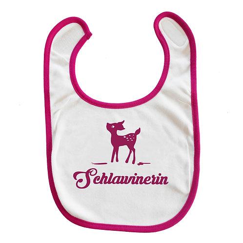 """Baby Lätzchen """"Schlawinerin"""" in pink"""