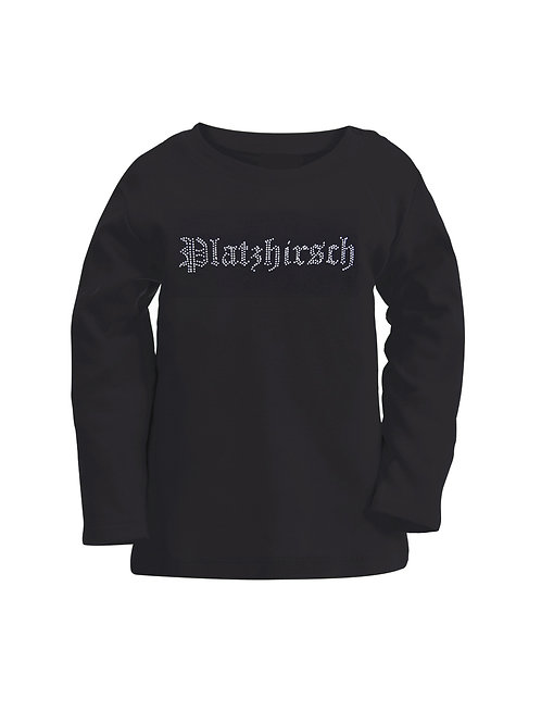 "Langarmshirt ""PLATZHIRSCH"" in 4 Farben"