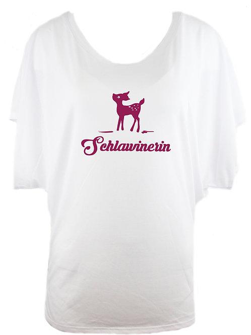 """Trachtenshirt """"SCHLAWINERIN REH"""" in 2 Shirtfarben"""