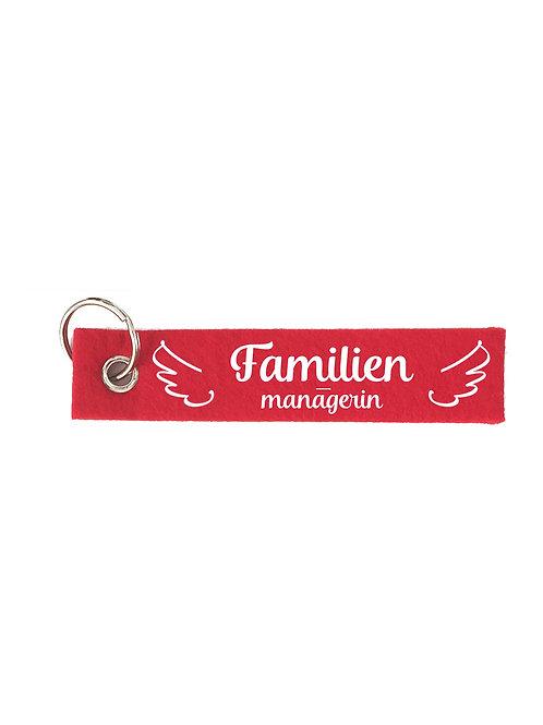 FAMILIENMANAGERIN Schlüsselanhänger - Filz Schlüsselbänder