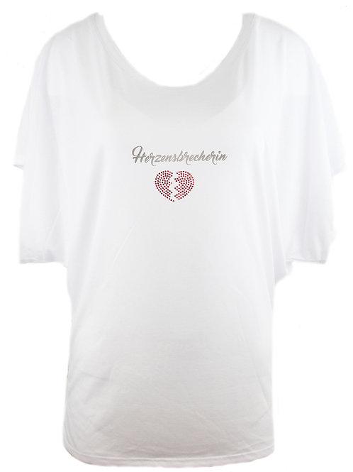 "Strassshirt ""HERZENSBRECHERIN"" in 2 Shirtfarben"