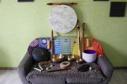 Voici les instruments que j'utilise