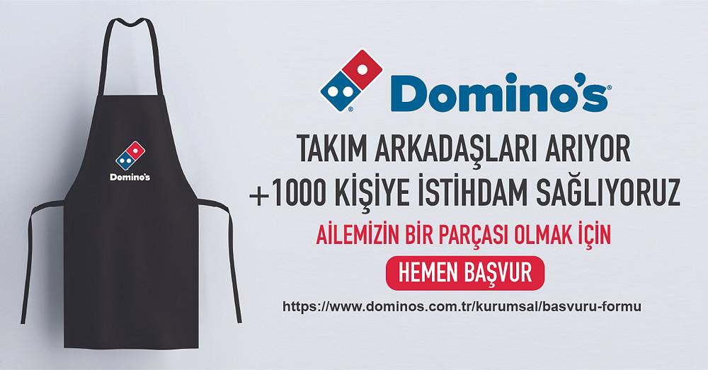 Domino's 1000 yeni kişiye istihdam sağlayacak.
