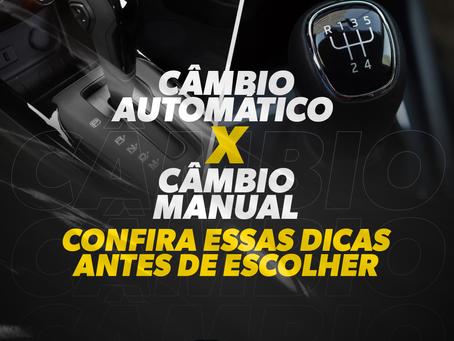 Câmbio Automático x Câmbio Manual: Confira essas dicas antes de escolher