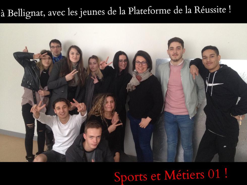 """avec les jeunes de Bellignat """"Sports et métiers 01"""" !"""