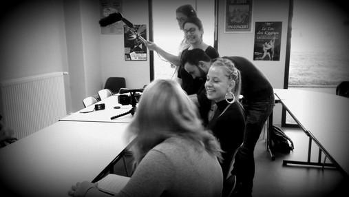 tournage reportage avec les jeunes de Belley