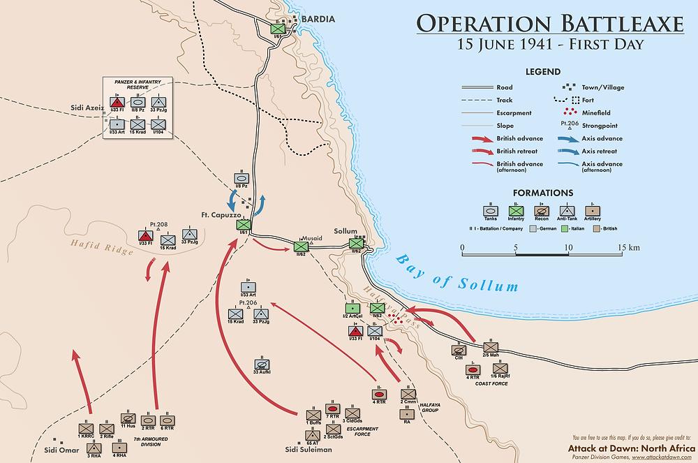 Operation Battleaxe - First Day