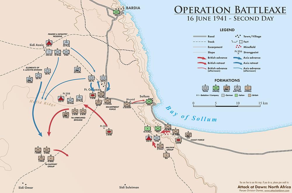 Operation Battleaxe - Second Day