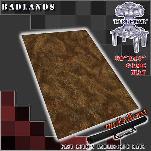 "Badland - 60"" x 44"" - Fat Mat"