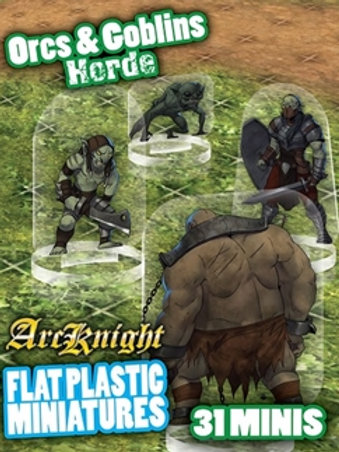 Orcs and Goblins Horde - Arc Knight - Flat Plastic Miniature
