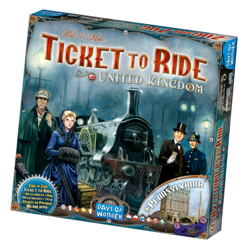 Les Aventuriers du Rail - ext. United Kingdom (multilingue) - Ticket to Ride