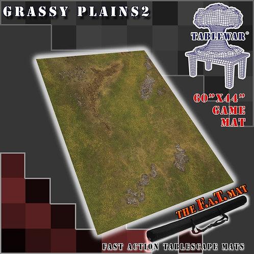 """Grassy Plains 2 - 60"""" x 44"""" - Fat Mat"""