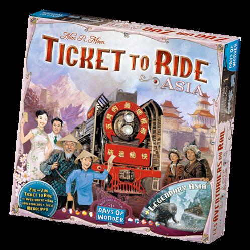 Les Aventuriers du Rail - ext. Asie (multilingue) Ticket to Ride