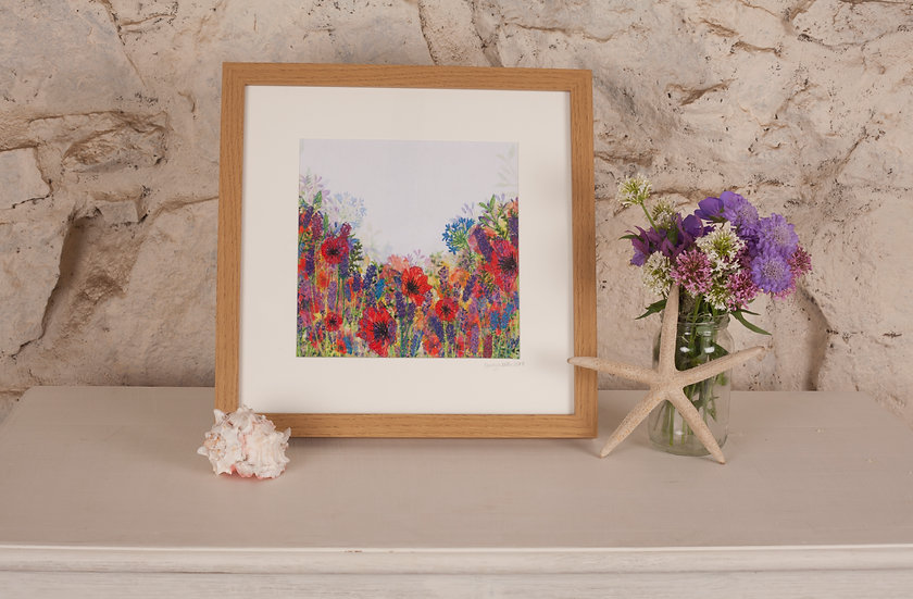 'All in Bloom' Embroidered Fabric Print