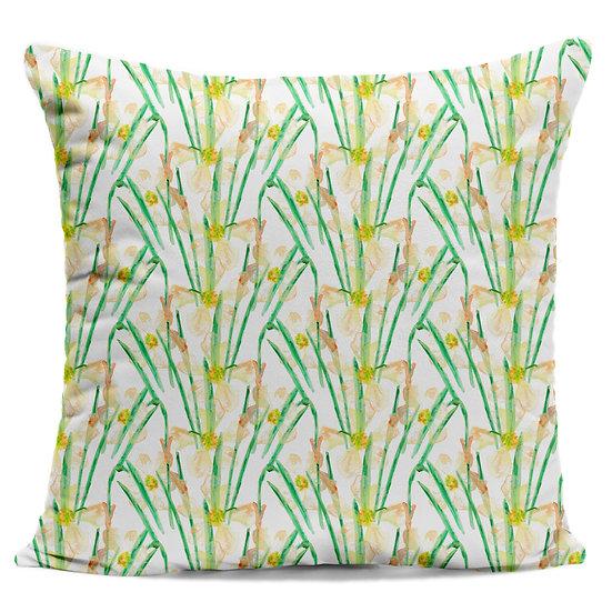White Daffodils Cushion