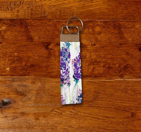 'Lavender Field' Keyring
