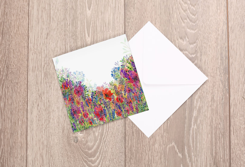 'All in Bloom' Greetings Card