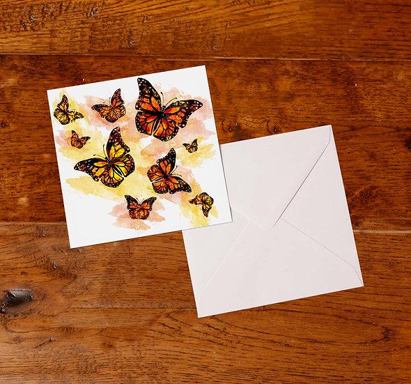 'Butterflies' Greetings Card