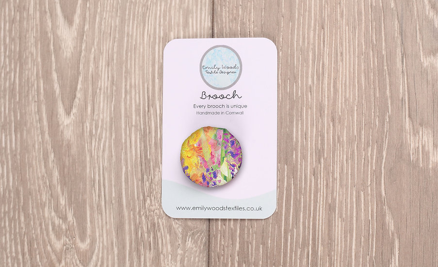 'Blooming Field' Fabric Brooch