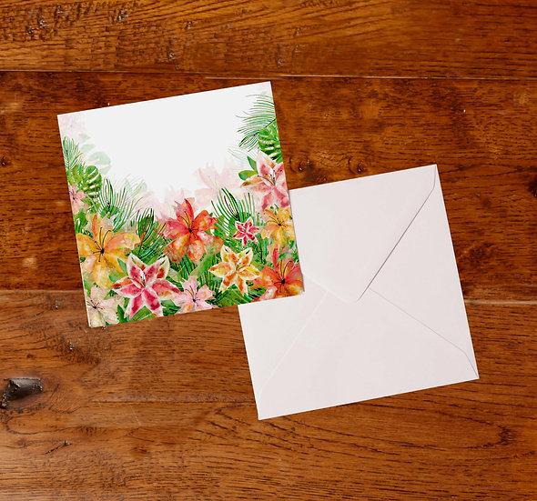'Lilies' Greetings Card